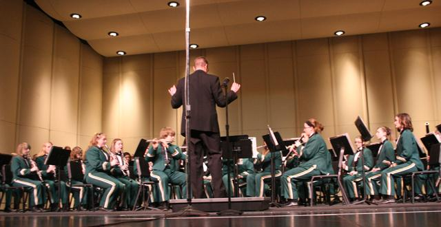 The band performs at a concert before their state competition.  The band earned superiors at the competition.  Photo by Rebecca Walsh