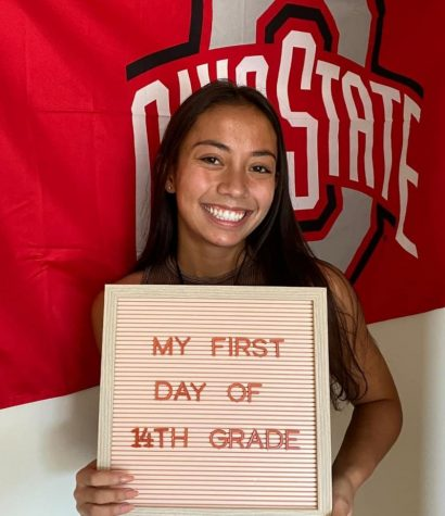 Taylor Bautista poses before her first day of sophomore year at Ohio State.